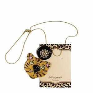 Tiger Frenzy by Jazzy Jewelz Tiger Face Necklace